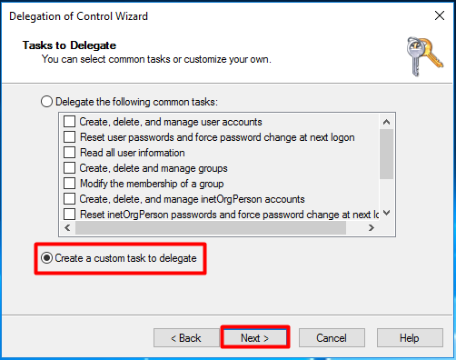 SCCM Delegate Control to the Site Server