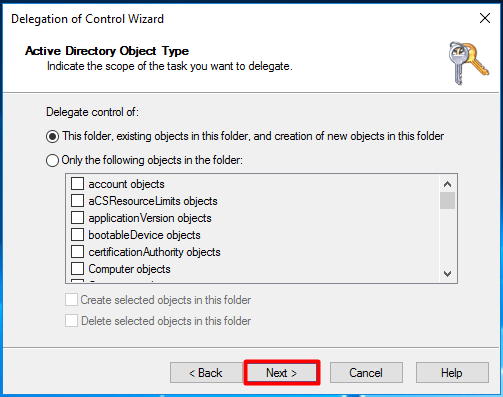 SCCM Delegate Control to the Site Server