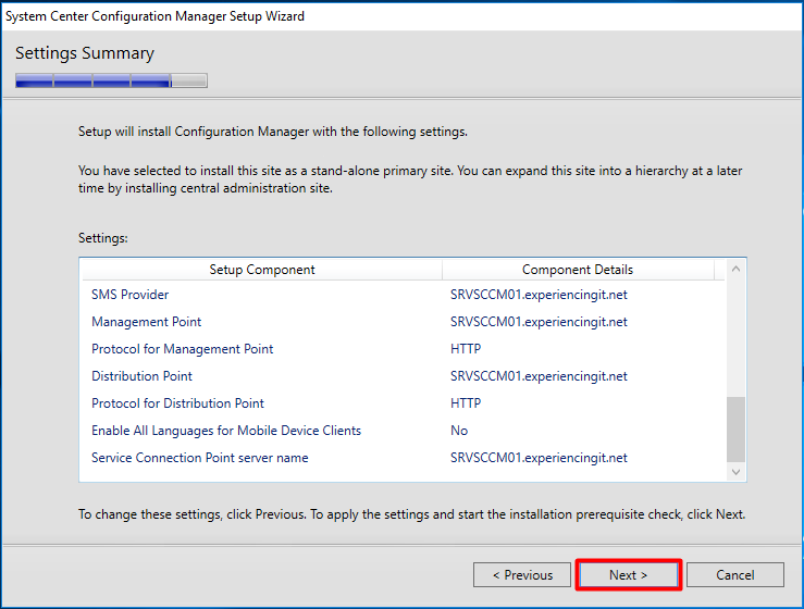 Install SCCM Current Branch