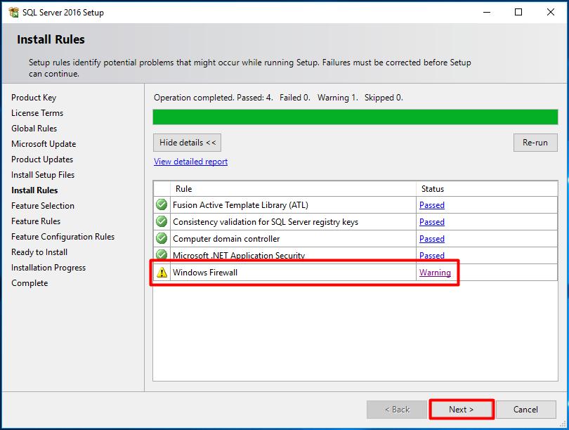 SCCM - Install SQL Server 2016