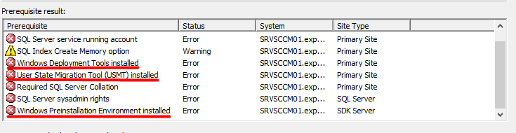 SCCM Prerequisites - Install Windows ADK