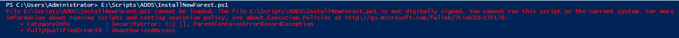 Deploy ADDS on Windows Server 2016 using Powershell