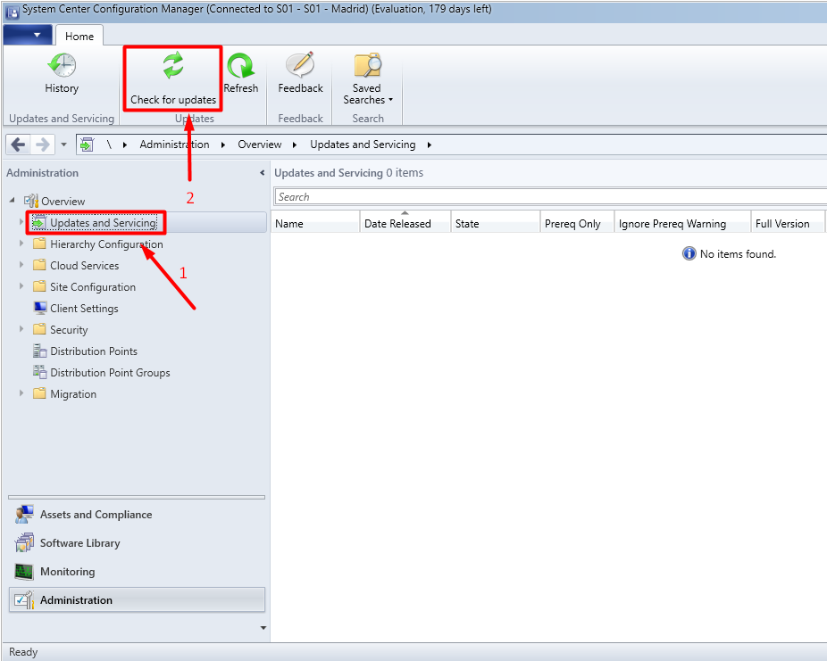 Upgrade SCCM Current Branch