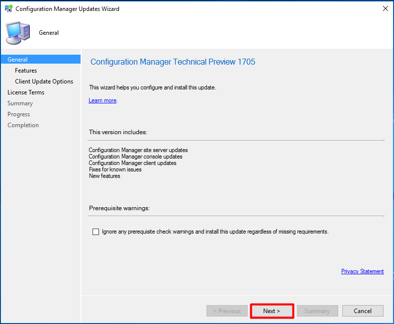 Updating SCCM Current Branch
