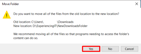 Change Windows 10 Downloads Folder Location