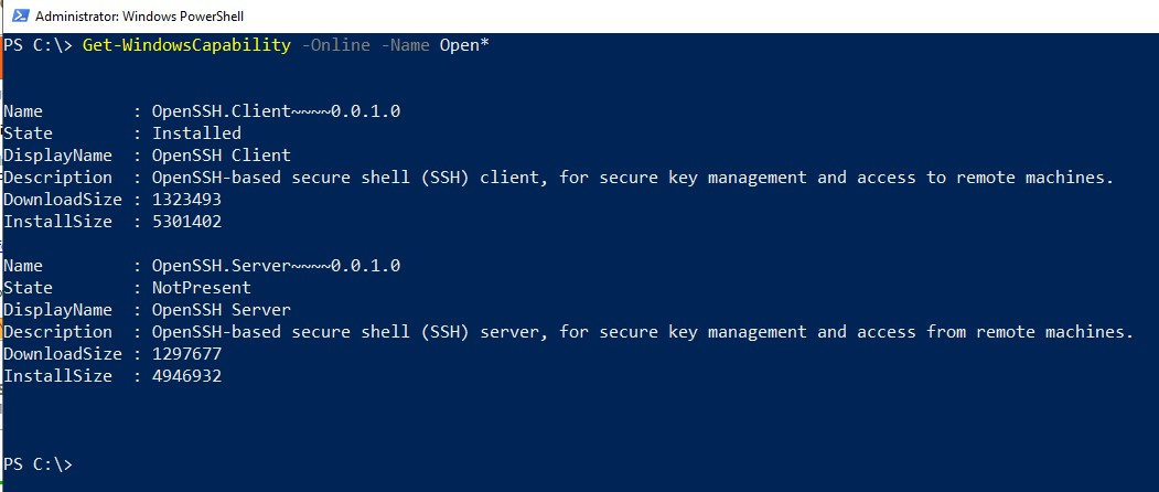 Enable SSH Windows Server 2019 – ExperiencingIT