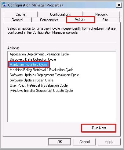 Force full hardware inventory SCCM Client