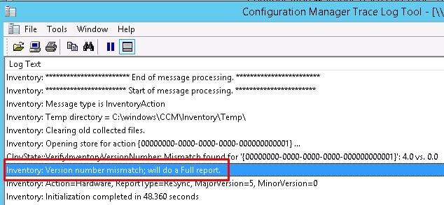 Force full SCCM Hardware Inventory SCCM Client