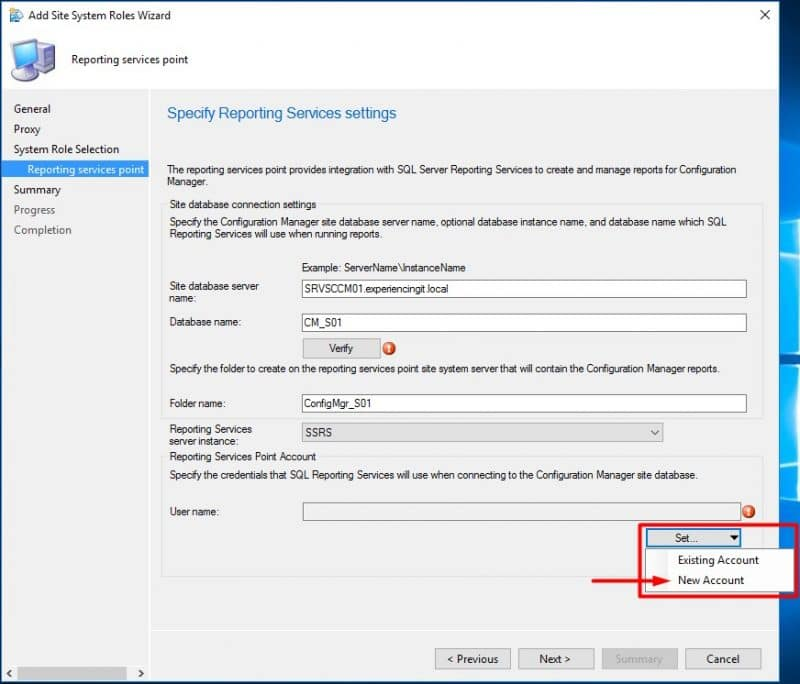 SCCM Current Branch - Add Reporting Services Point Role – ExperiencingIT