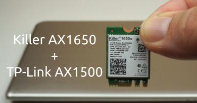 Killer AX1650 + TP-Link AX1500